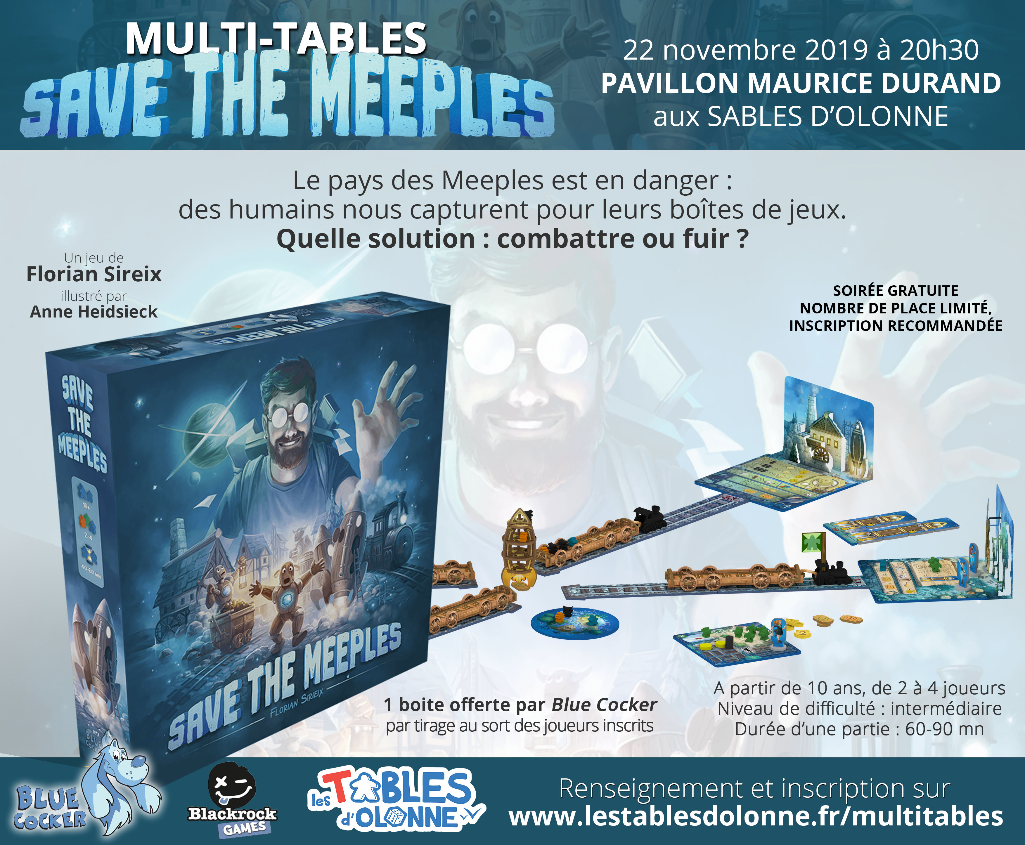 affiche Multitables Save the Meeples